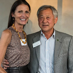 Kevin Leong '70, '93 and his wife Cathy - Planned Giving